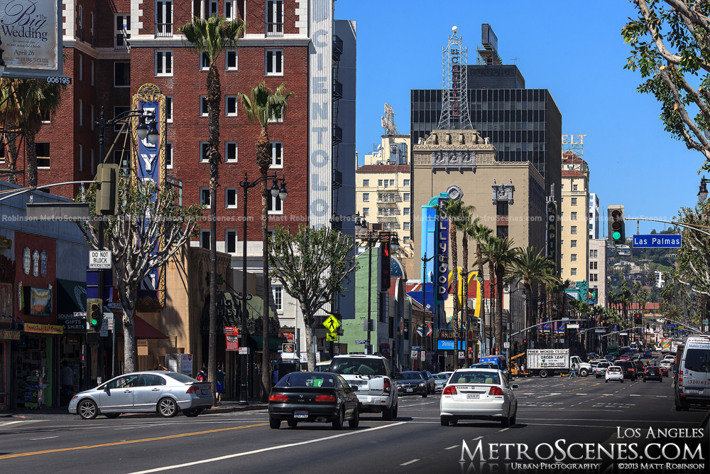 View looking down Hollywood Boulevard