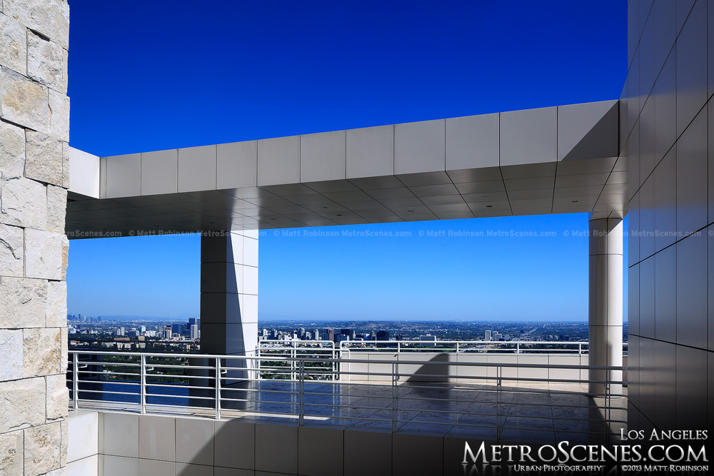 Getty Center walkway with view