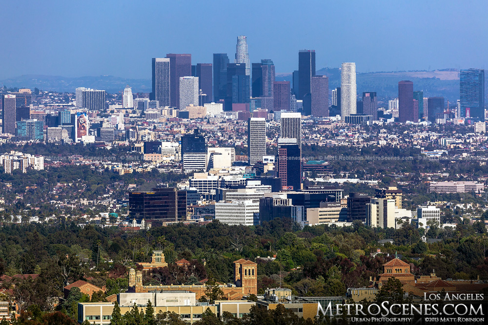 Los Angeles Skyline seen from the Getty Center