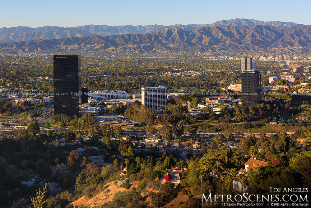 Universal City with the Verdugo Mountains