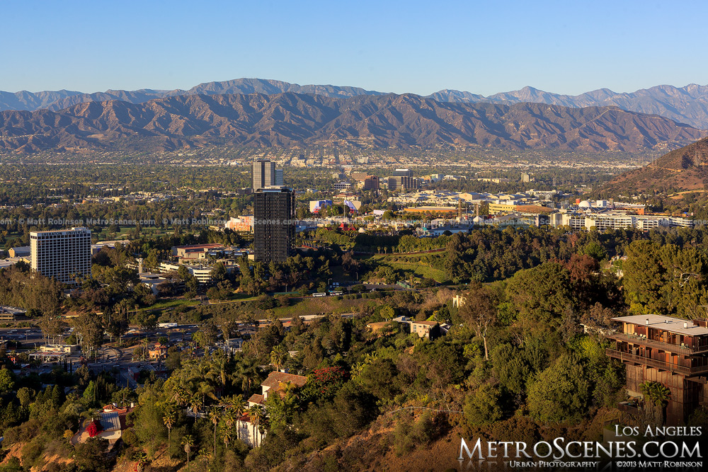 View of Universal City from Mulholland Drive