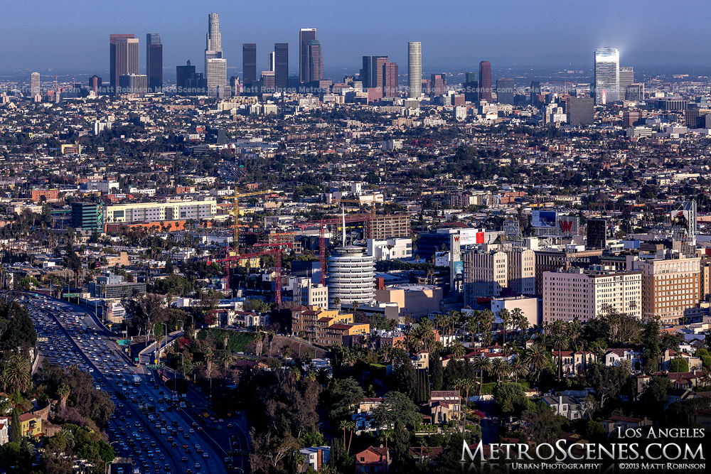 Downtown Los Angeles from Mulholland Drive