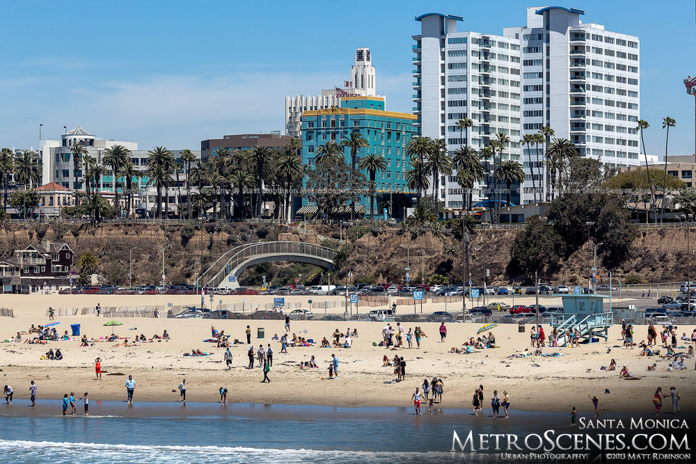 The beach at Santa Monica