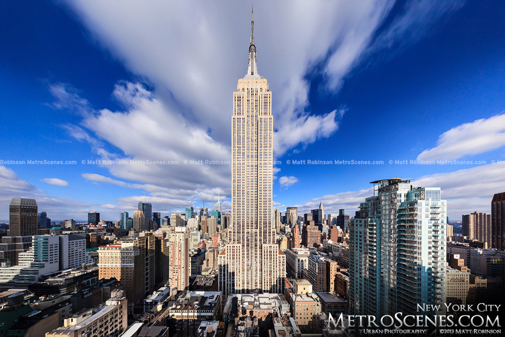 View of the Empire State Building from Tower 31 NYC
