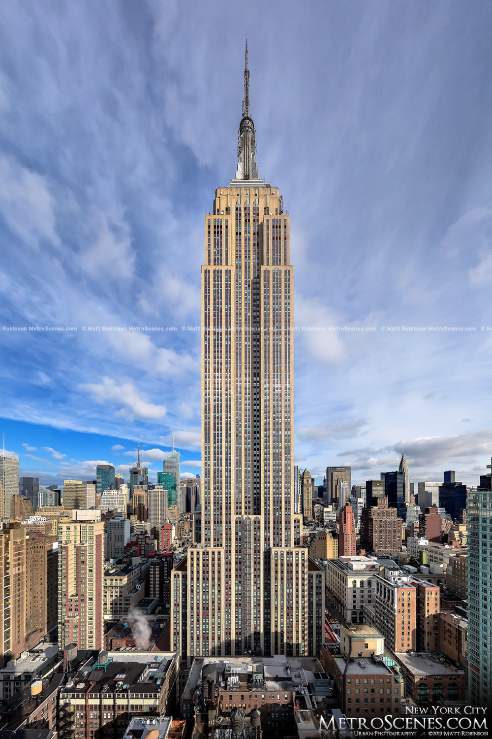 The Empire State Building Towers over Midtown Manhattan