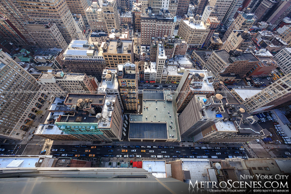 Looking down on 31st Street