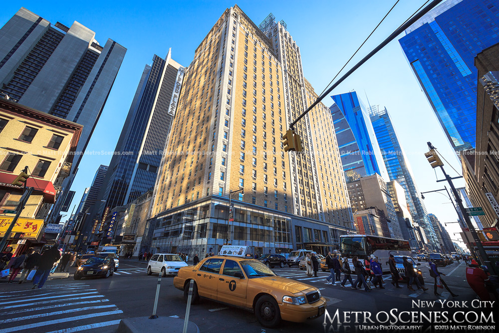 Milford Plaza with NYC Taxi