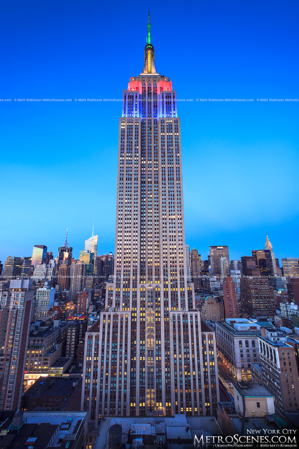 Rare view of the Empire State Building at magic hour
