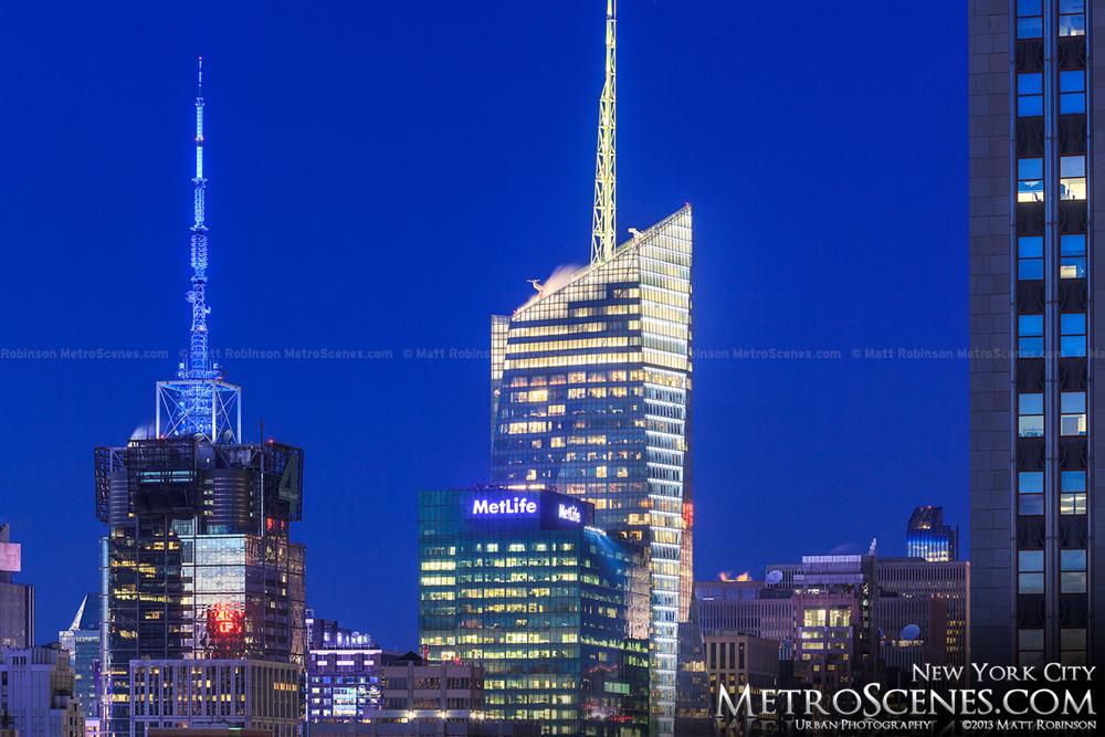 New York Bank of America Building at Magic Hour