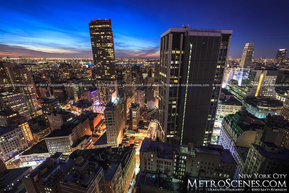 The Beatrice New York City at night