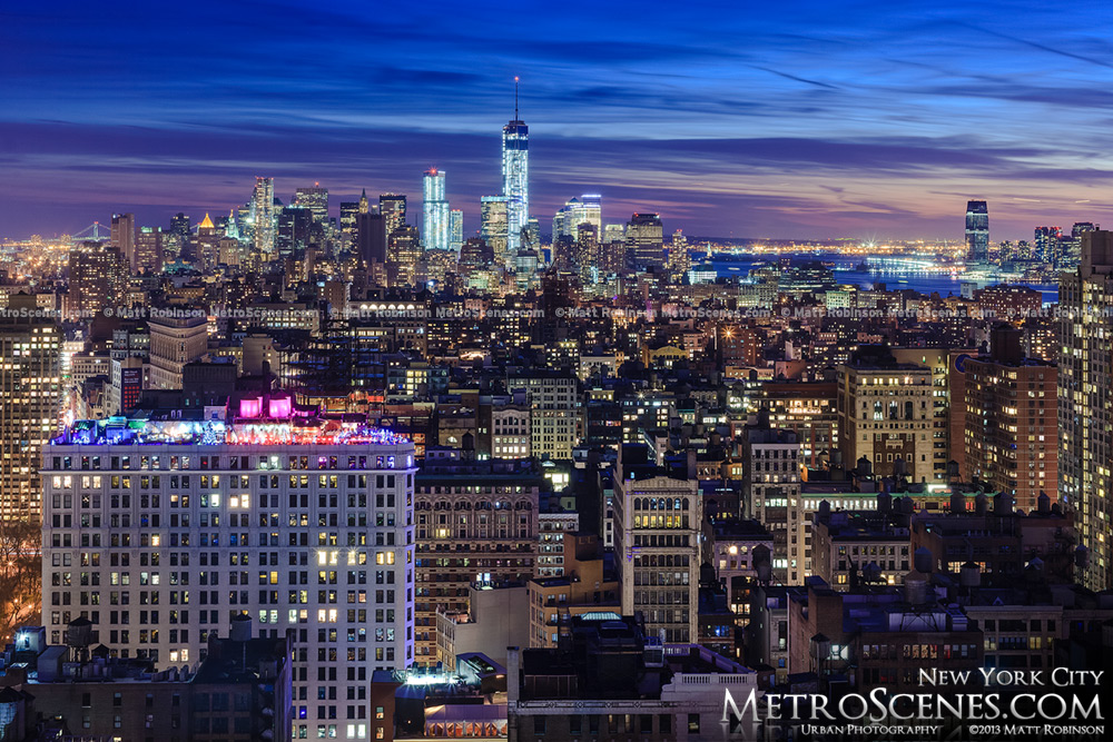 The Big Apple at night 2014