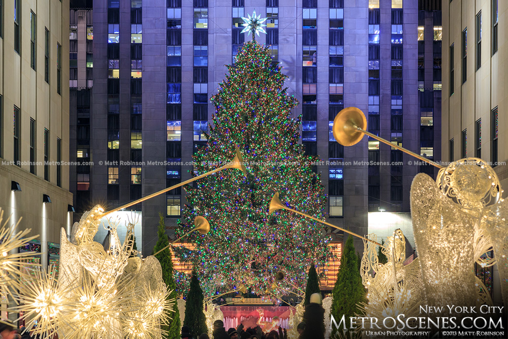 Rockefeller Center Christmas Tree with Trumpets