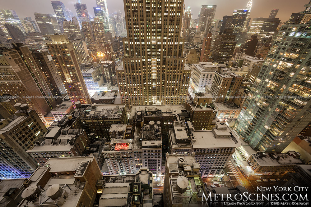 Snowy Rooftops in New York City