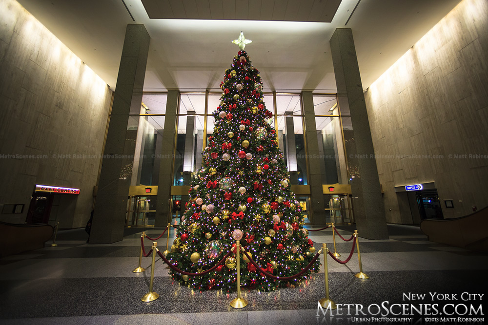 Christmas Tree inside the Met Life Building