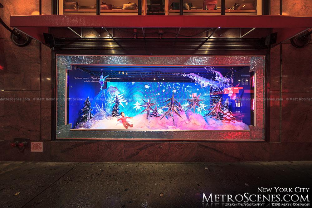 New York City Macy's Window Display at Christmas