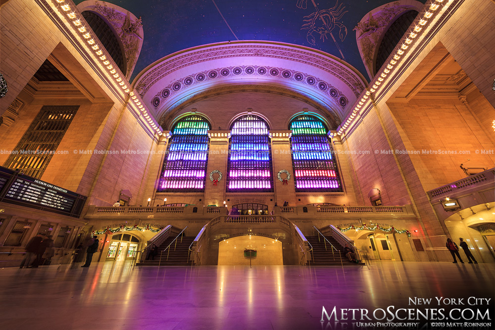 Centennial Holiday Light Show at Grand Central Terminal