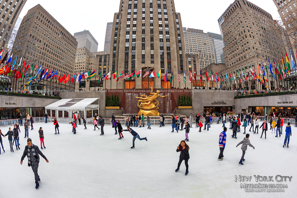 The skating rink at Rockefeller Center