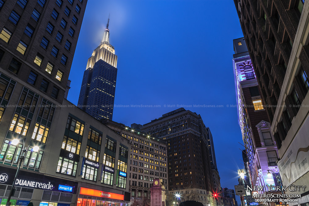 Broadway and Empire State Building