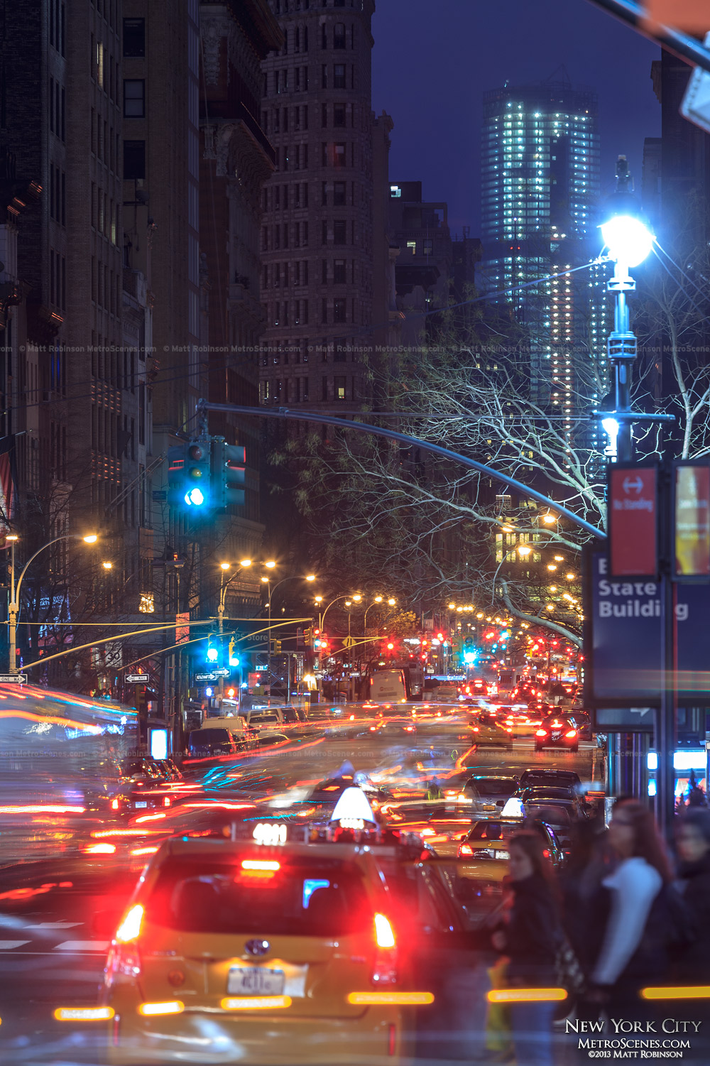 Looking down Fifth Avenue towards 4 World Trade Center from 34 Street