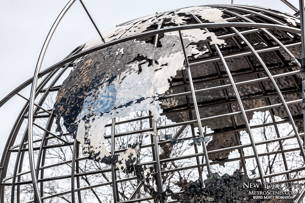 The metal Globe at Trump International Hotel & Tower