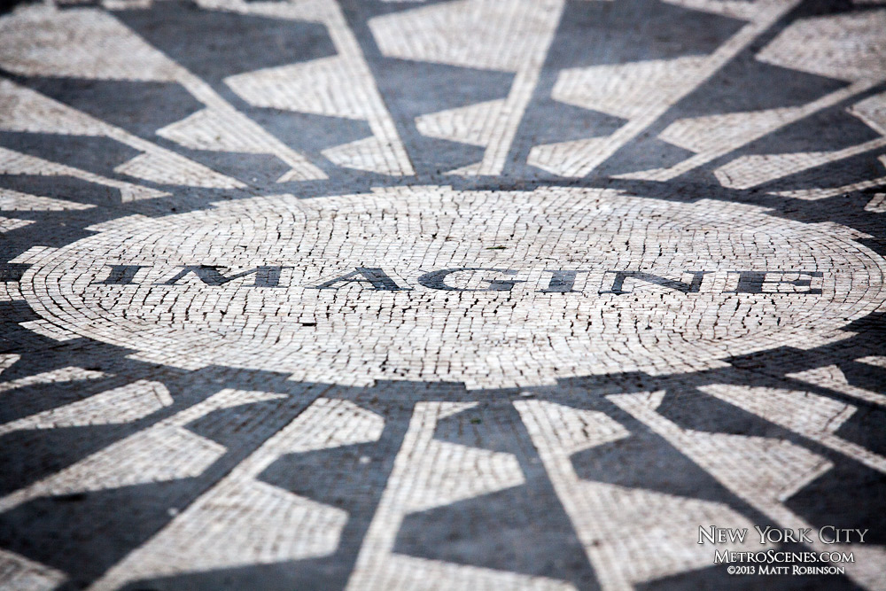 Imagine mosaic at Strawberry Fields in Central Park