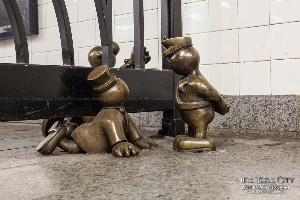 Life Underground statue at 14th Street – Eighth Avenue Station