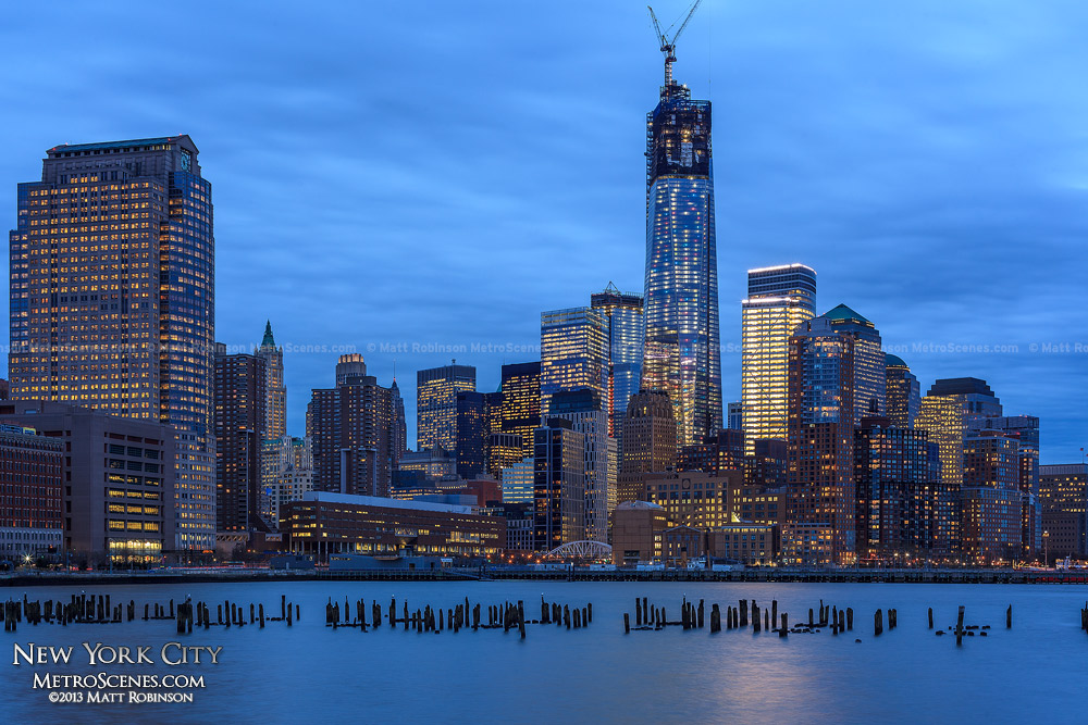 Lower Manhattan with World Trade Center 2013