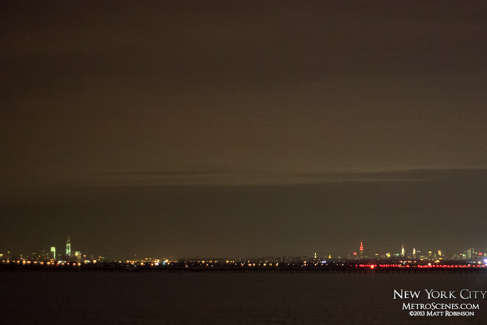 Distant Manhattan from Kennedy Airport