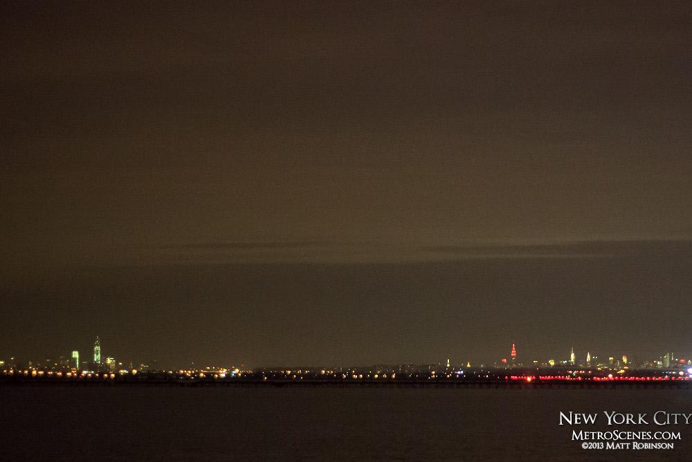 Distant Manhattan from Kennedy Airport