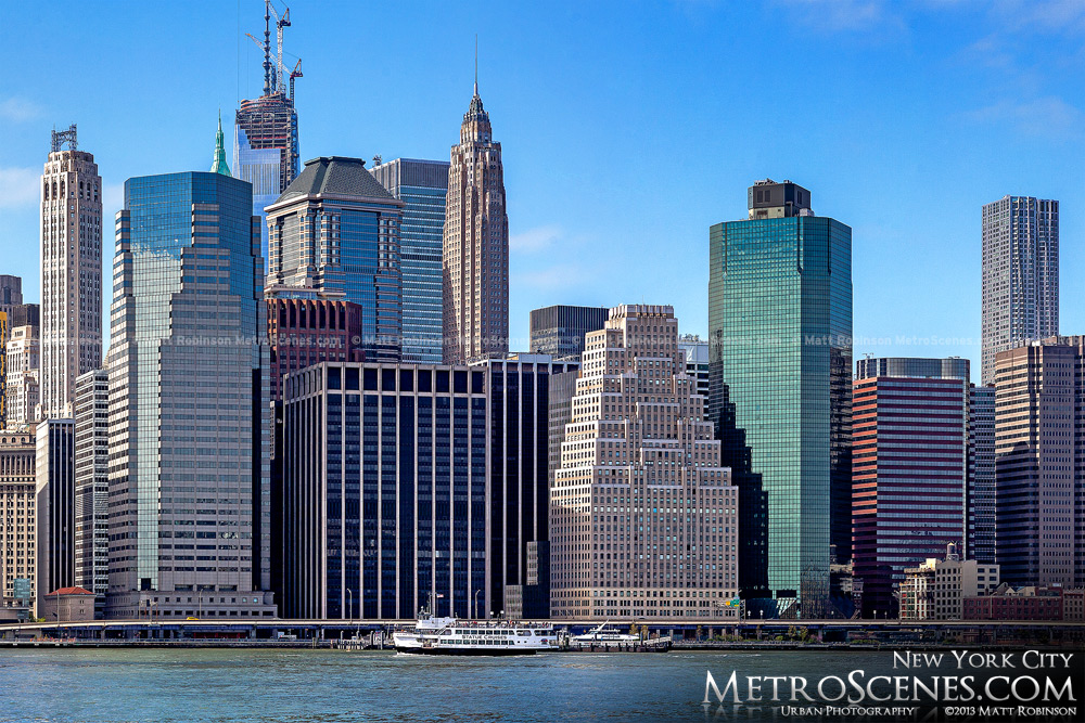 Lower Manhattan from Pier 5 at Brooklyn Bridge Park