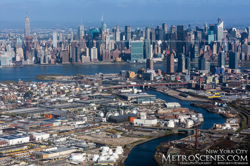 New York City Aerial with Queens May 2013