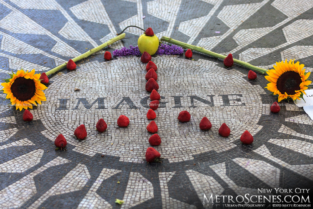Imagine Mosaic with strawberries, Central Park West