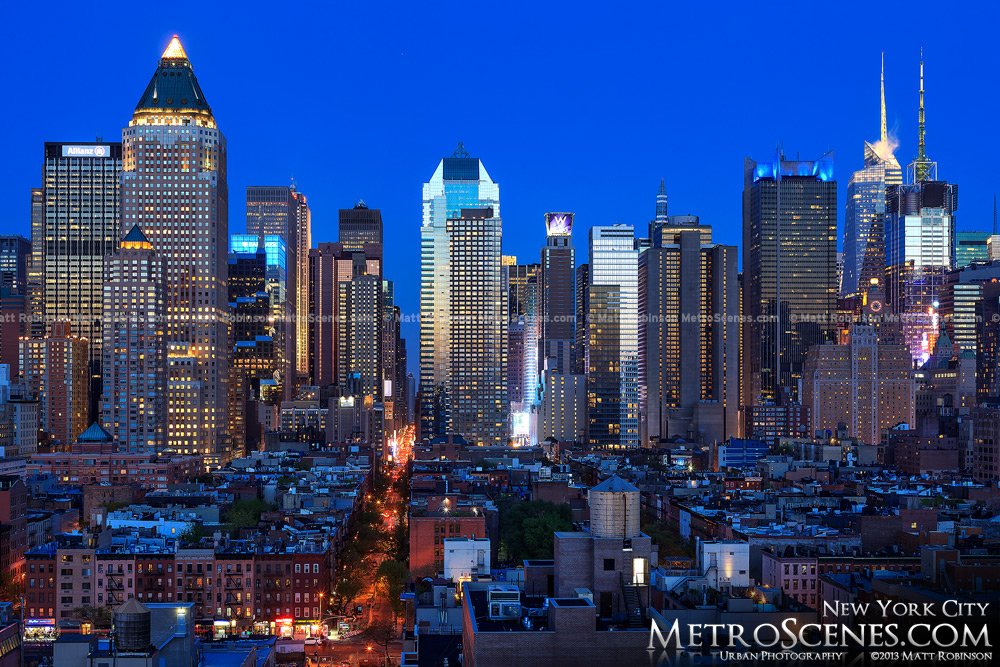Midtown New York City at night - May 2013