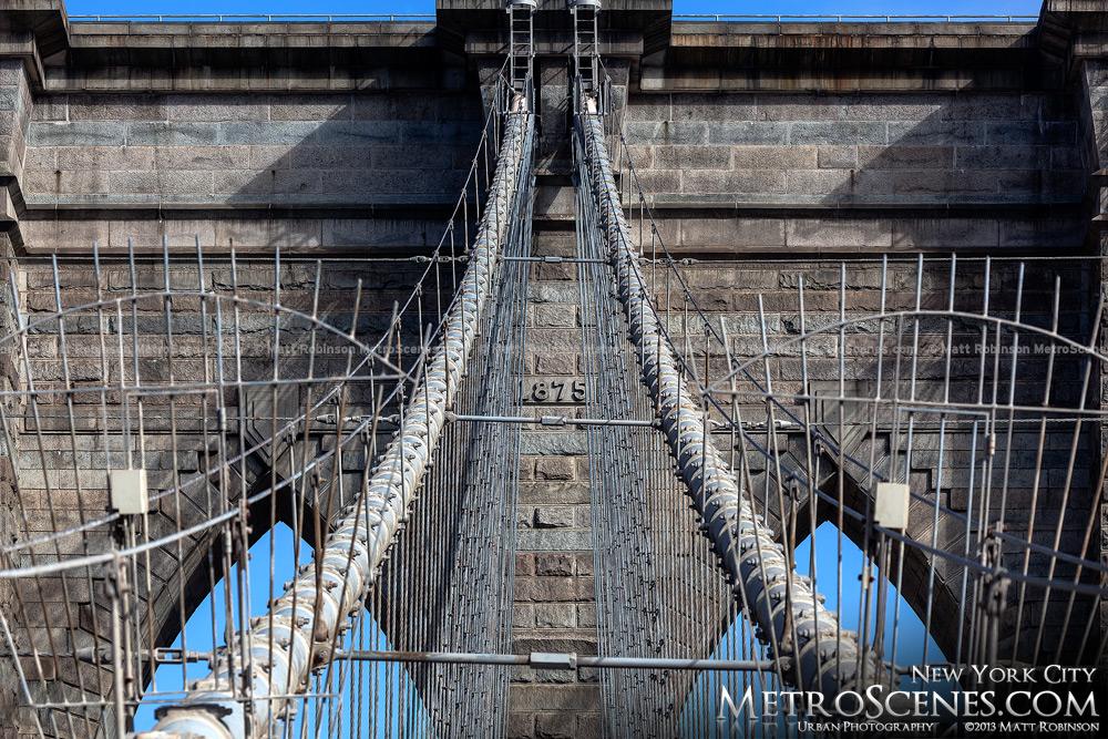 Brooklyn Bridge Tower - 1875
