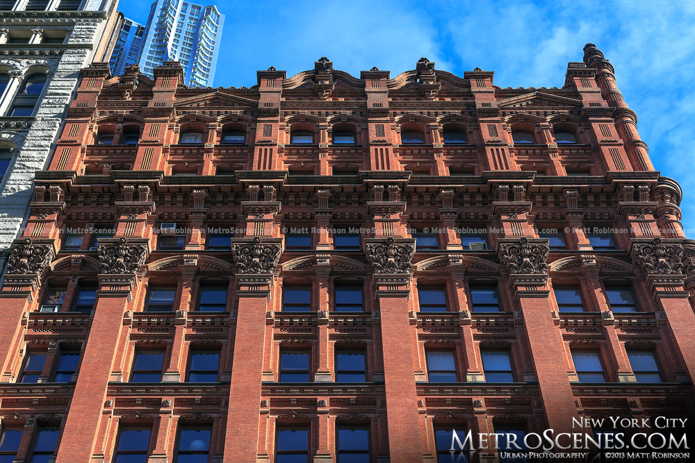 The Potter Building facade in New York City