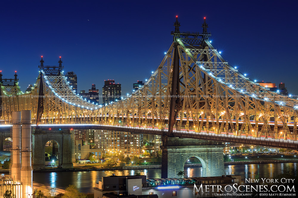 The Queensboro Bridge at night