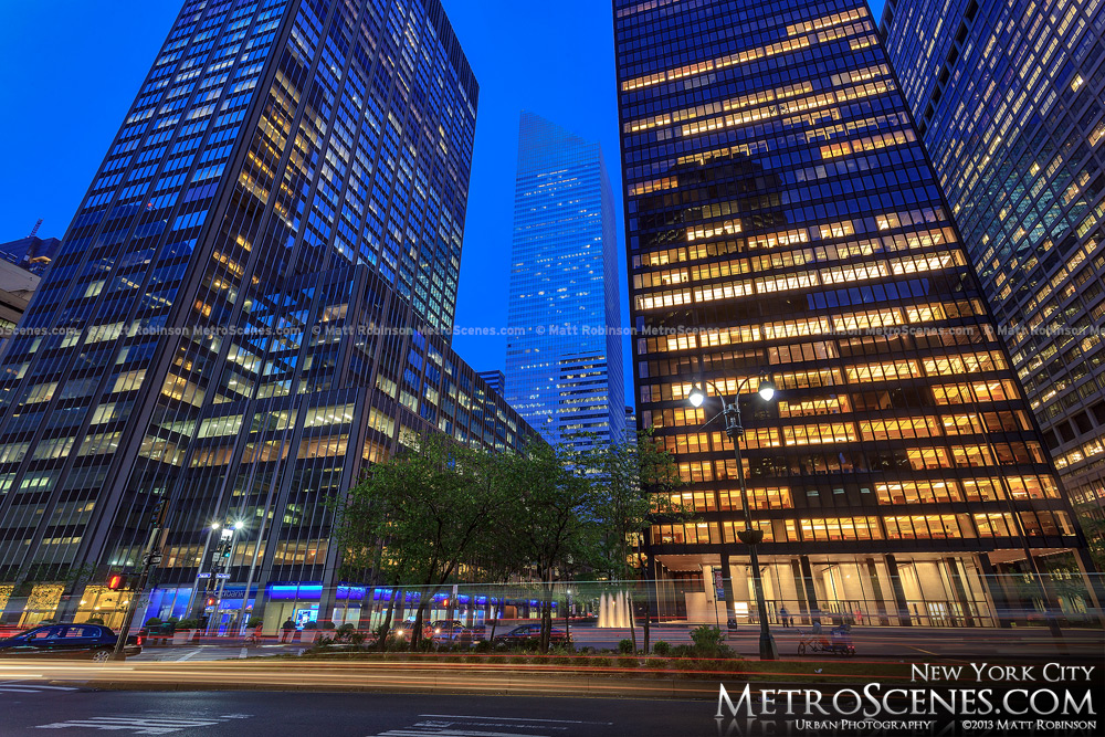 Citigroup Center between office towers from Park Avenue