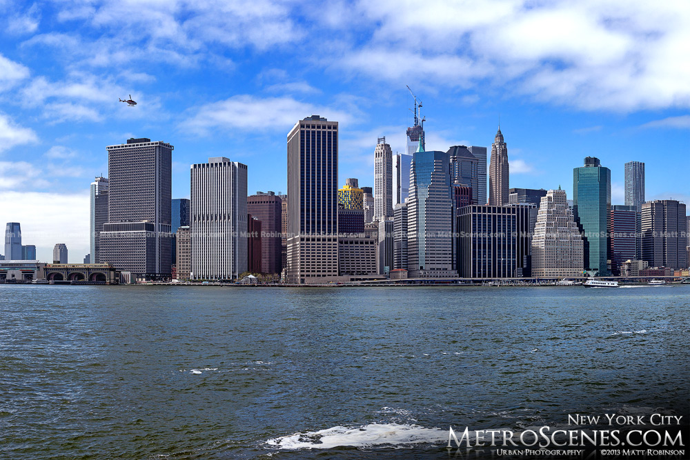 Downtown New York from Brooklyn Bridge park