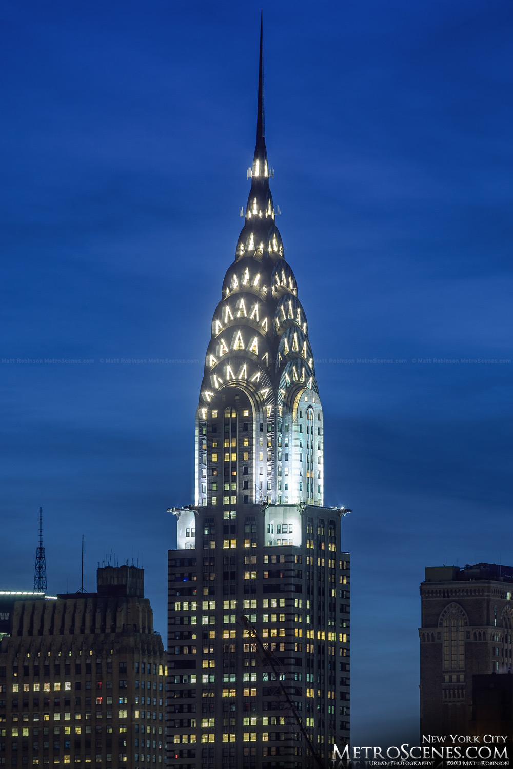 The Chrysler building at night - MetroScenes.com - New ...
