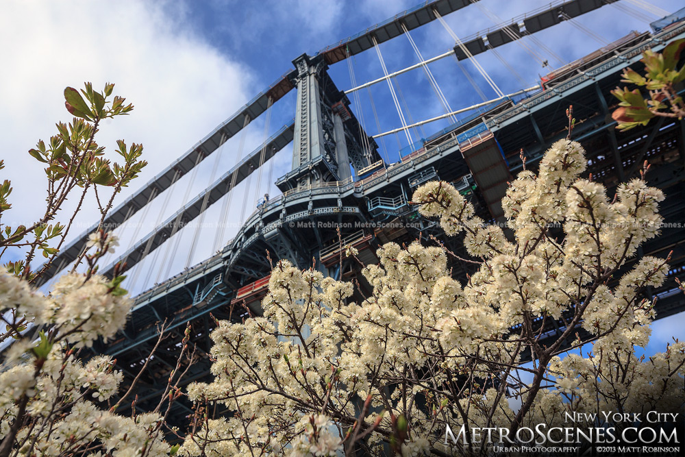 Spring at the Manhattan Bridge