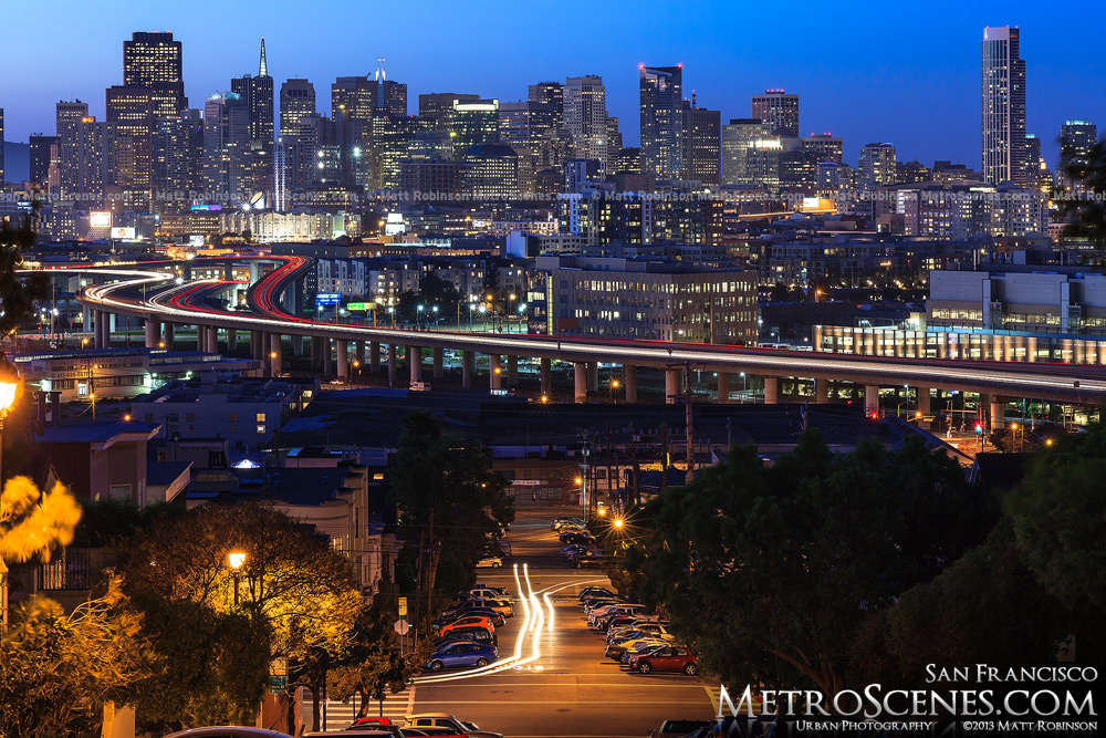 San Francisco Skyline at night from Potrero Hill