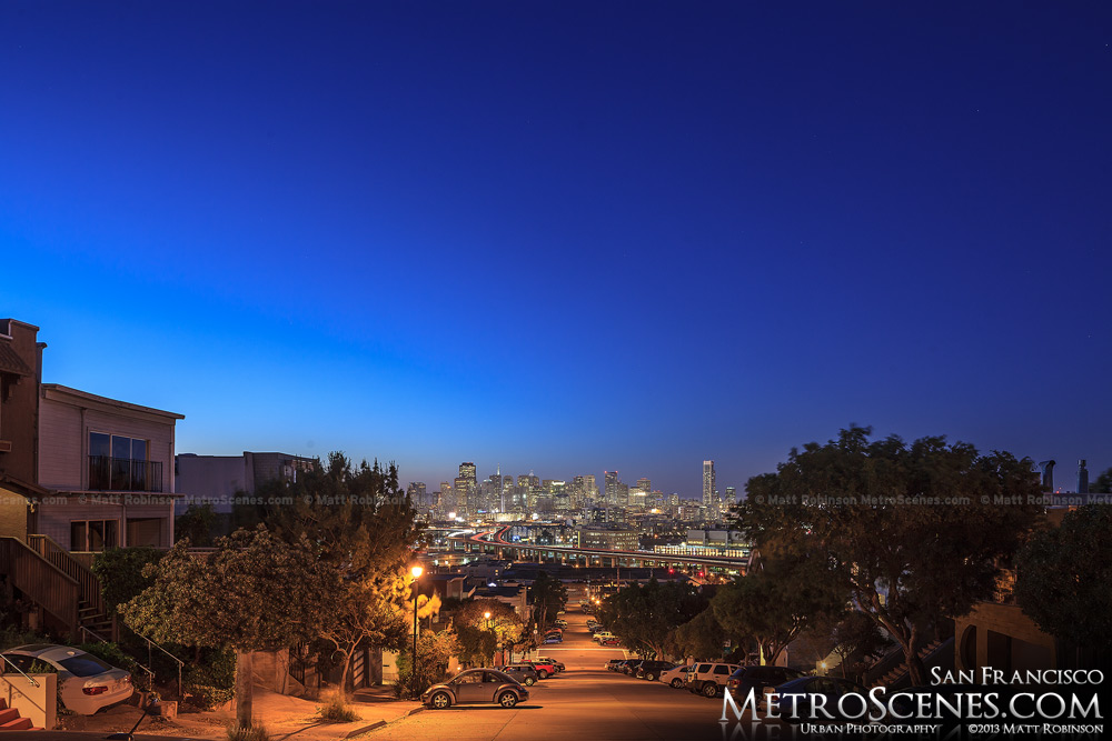 Potrero Hill at night