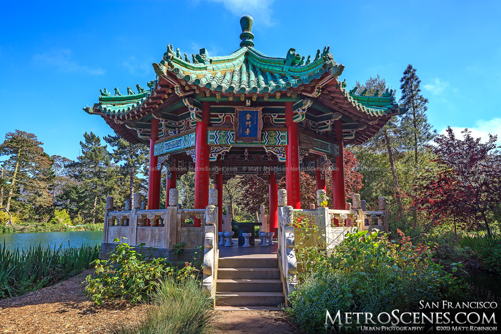 Chinese Pavilion at Stow Lake in Golden Gate Park