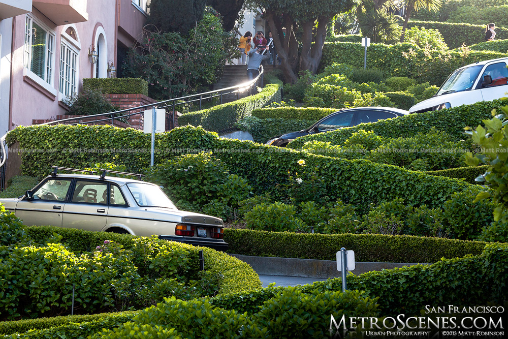 Slopes of the curvy block on Lombard Street