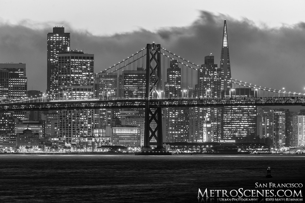 Black and White San Francisco from Oakland