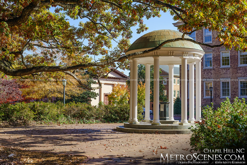 The Old Well at University of North Carolina during Fall