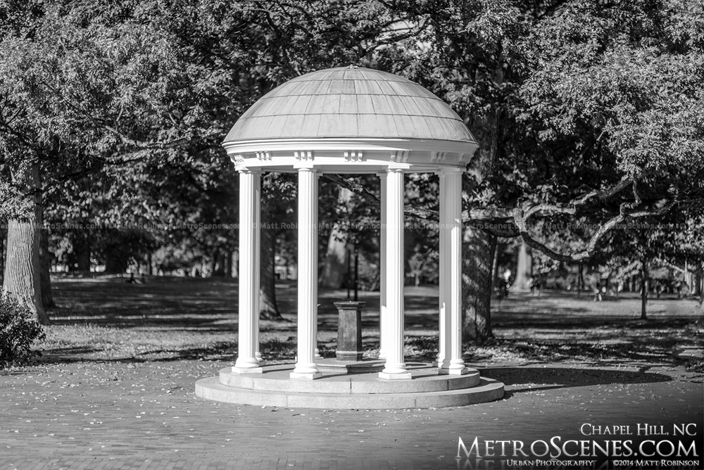 Black and White Old Well UNC-CH
