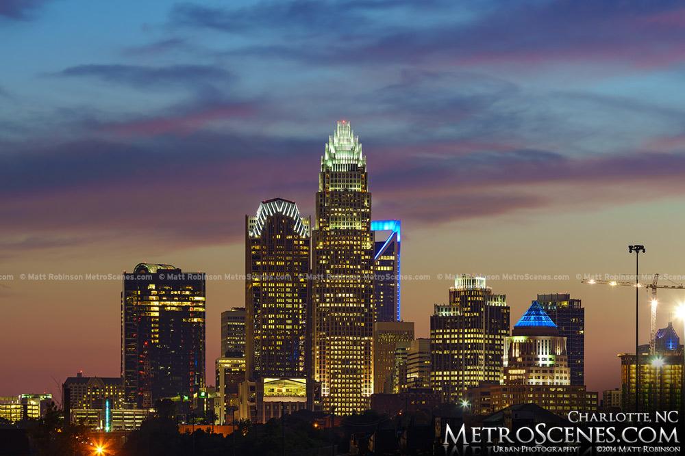 Charlotte NC at night
