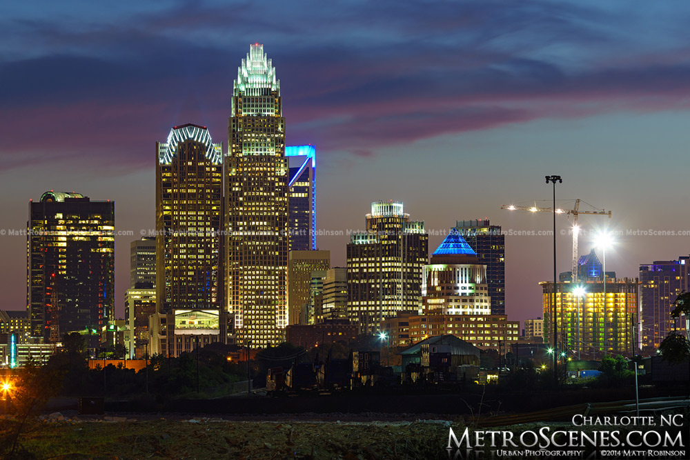Skyline of Charlotte NC in 2014