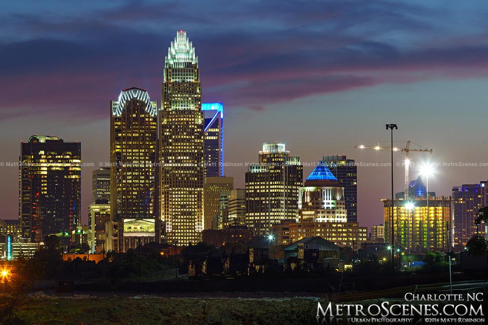 Skyline of Charlotte NC in 2014